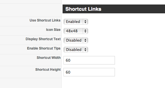 shortcutLinks