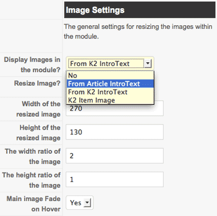 image-settings