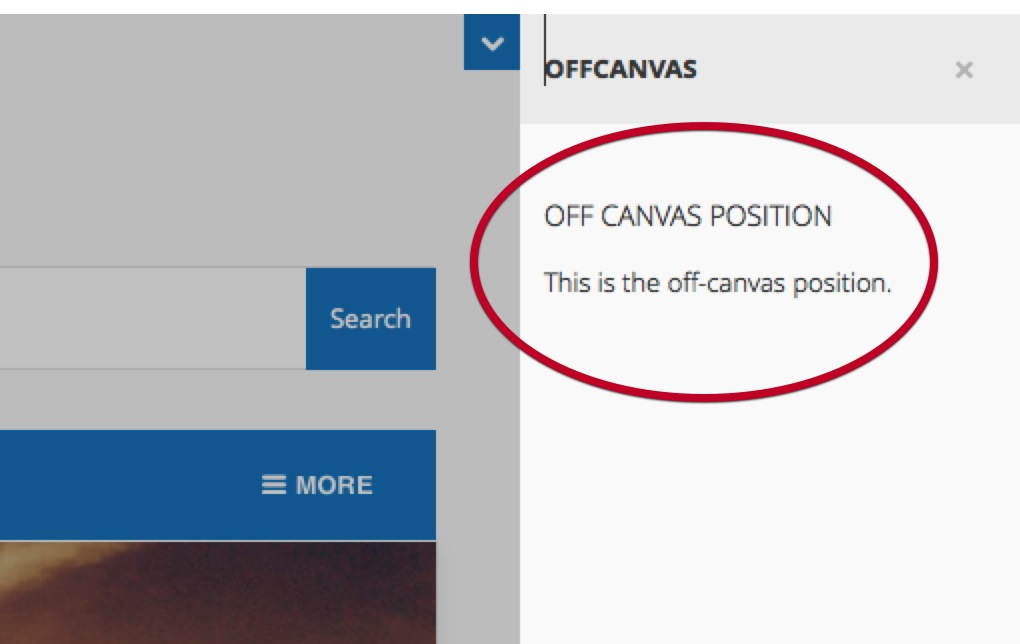 Offcanvas-position