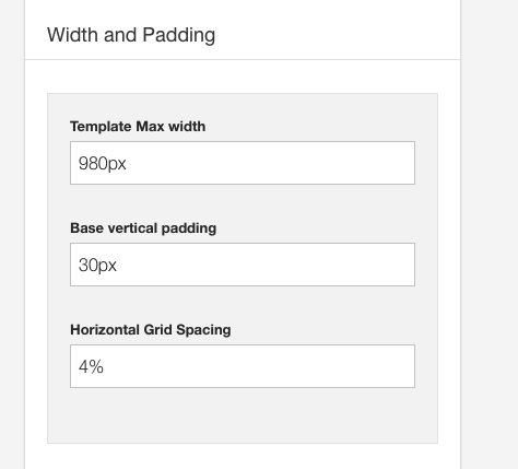 Width and padding