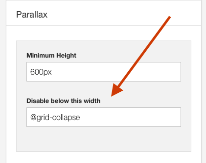 Parallax Disable