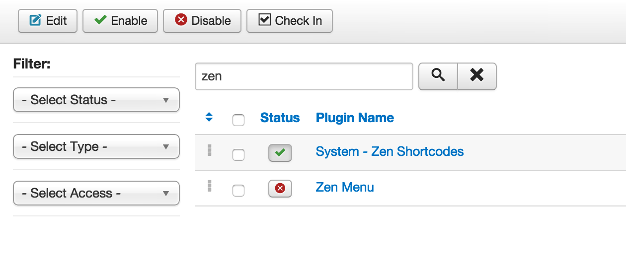 Publish Zen Menu