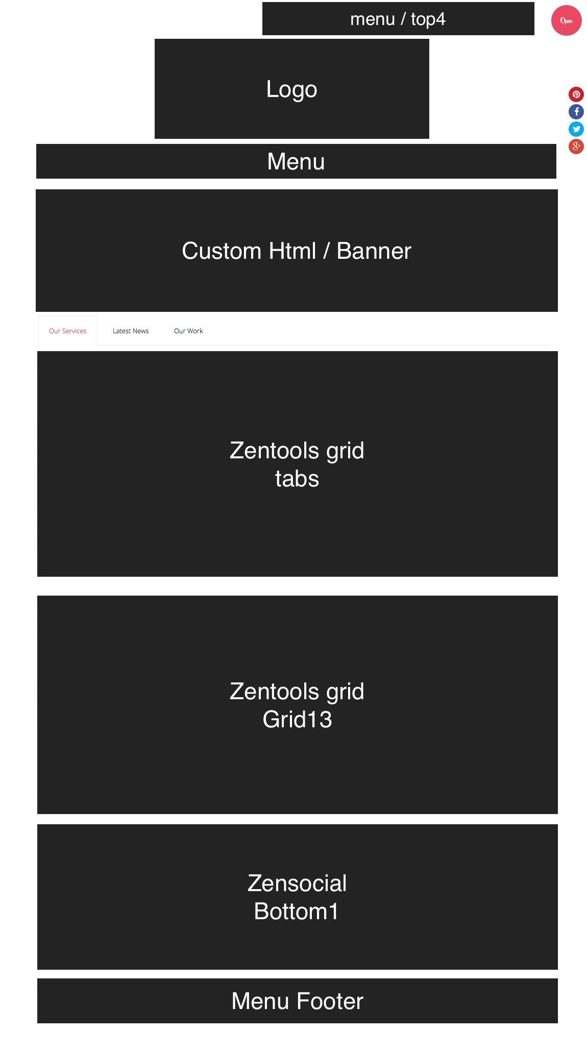 responsive2 Front page setup