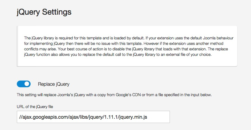 jQuery Settings