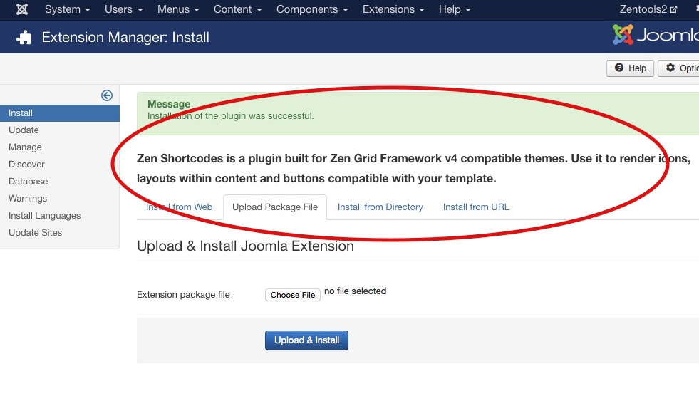 How to install a Joomla plugin step 4